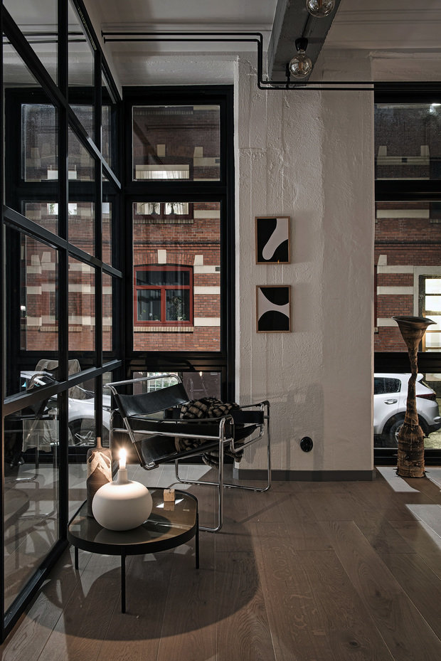Фотография: Мебель и свет в стиле Лофт, Декор интерьера, Швеция, Белый, Черный, Стокгольм, 2 комнаты, 40-60 метров – фото на InMyRoom.ru