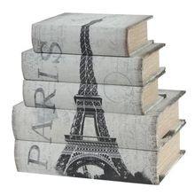 Шкатулки, муляж книг PARIS (5 шт)