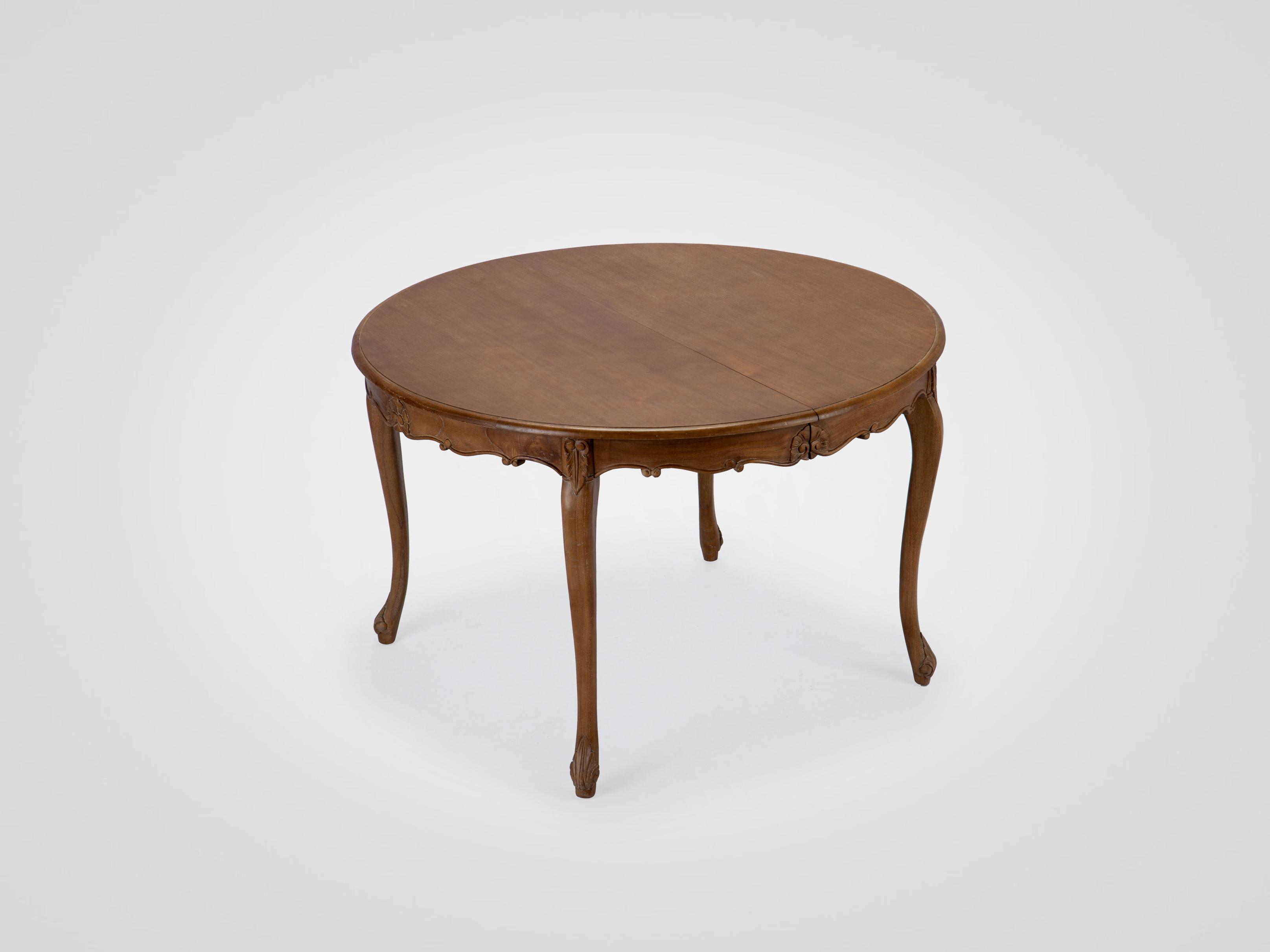 Купить Обеденный круглый раздвижной стол из дерева минди с резьбой ручной работы, inmyroom, Индонезия