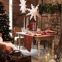 Фотография: Кухня и столовая в стиле Кантри, Современный, Свечи, Сервировка стола – фото на InMyRoom.ru
