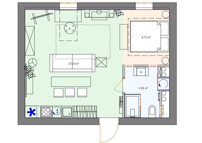 Фотография: Планировки в стиле , Лофт, Квартира, Дома и квартиры – фото на InMyRoom.ru