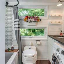 Фотография: Ванная в стиле Кантри, Дача, Дом и дача – фото на InMyRoom.ru