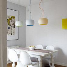 Фотография: Кухня и столовая в стиле Эклектика, Квартира, Цвет в интерьере, Дома и квартиры, Белый – фото на InMyRoom.ru