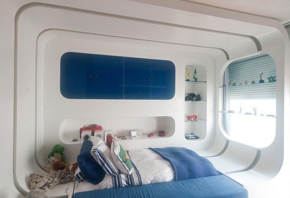 Фотография: Спальня в стиле Современный, Дом, Дома и квартиры, Бассейн – фото на InMyRoom.ru