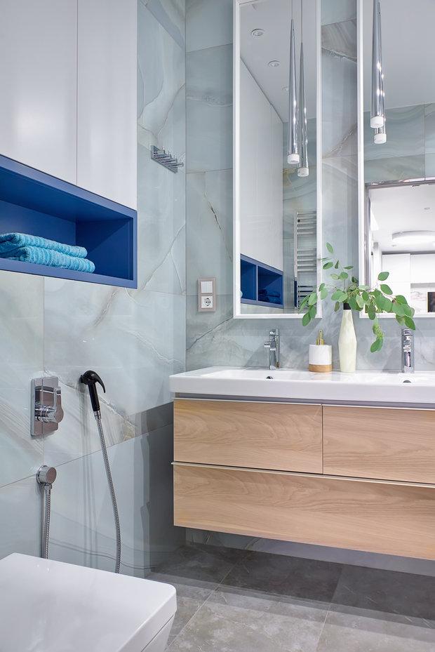 Фотография: Ванная в стиле Современный, Квартира, Проект недели, Москва, 2 комнаты, 60-90 метров, Валерия Москалева – фото на INMYROOM