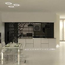 Фотография: Кухня и столовая в стиле Хай-тек, Детская, Интерьер комнат, Маркет, Фотообои – фото на InMyRoom.ru