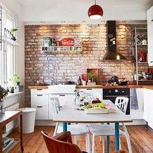 Фотография: Кухня и столовая в стиле Лофт, Скандинавский, Малогабаритная квартира, Квартира, Дома и квартиры – фото на InMyRoom.ru