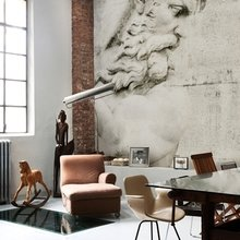 Фотография: Гостиная в стиле Лофт, Декор интерьера, Декор дома, Обои, Стены – фото на InMyRoom.ru