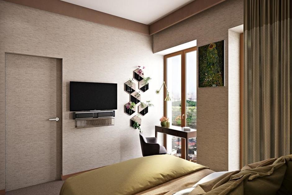 Фотография: Спальня в стиле Современный, Квартира, Проект недели, Москва, Монолитный дом, 3 комнаты, 60-90 метров, Алена Чекалина – фото на InMyRoom.ru