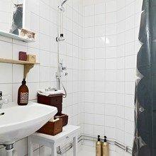 Фотография: Ванная в стиле Скандинавский, DIY, Малогабаритная квартира, Квартира, Дома и квартиры – фото на InMyRoom.ru