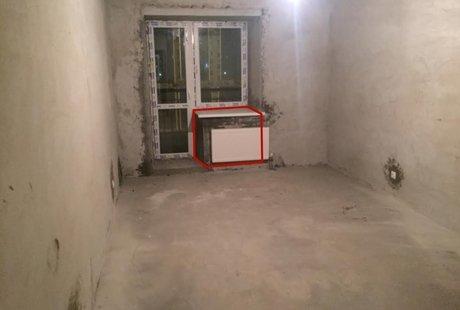 Снос куска стены у выхода на балкон