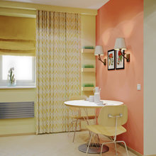 Фотография: Кухня и столовая в стиле Современный, Малогабаритная квартира, Квартира, Дома и квартиры, Перепланировка – фото на InMyRoom.ru