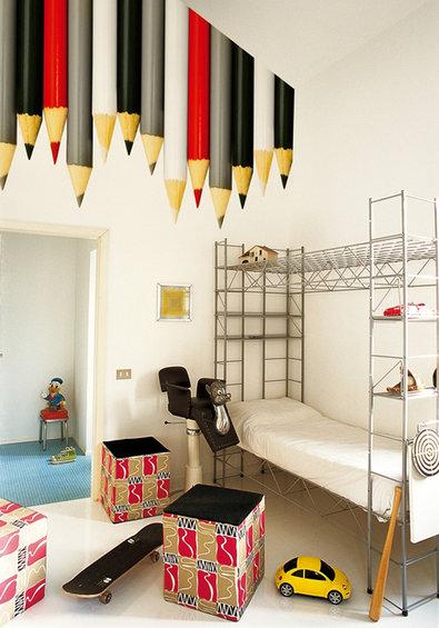 Фотография: Детская в стиле Лофт, Современный, Декор интерьера, Декор дома, Обои, Стены – фото на INMYROOM