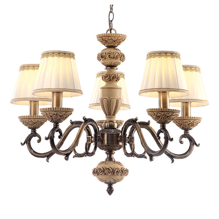Подвесная люстра Arte Lamp Cherish с белыми абажурами