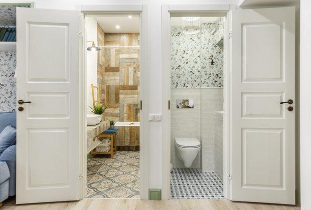 Фотография: Ванная в стиле Прованс и Кантри, Квартира, Проект недели, Москва, 3 комнаты, 60-90 метров – фото на INMYROOM