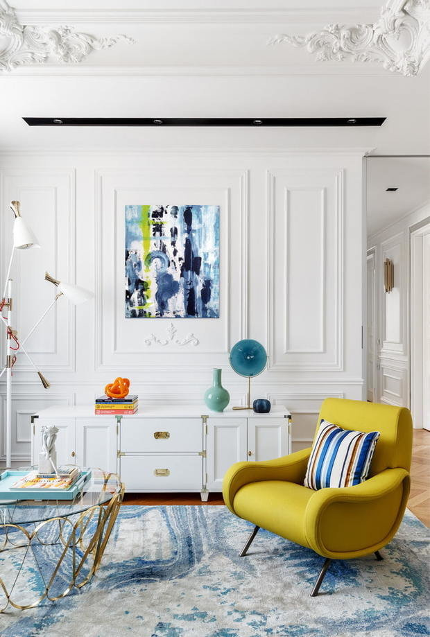 Фотография: Гостиная в стиле Эклектика, Декор интерьера, Лепнина, Европласт, лепной декор, молдинги – фото на INMYROOM