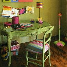Фотография: Детская в стиле Кантри, Декор интерьера, Дизайн интерьера, Цвет в интерьере, Зеленый – фото на InMyRoom.ru