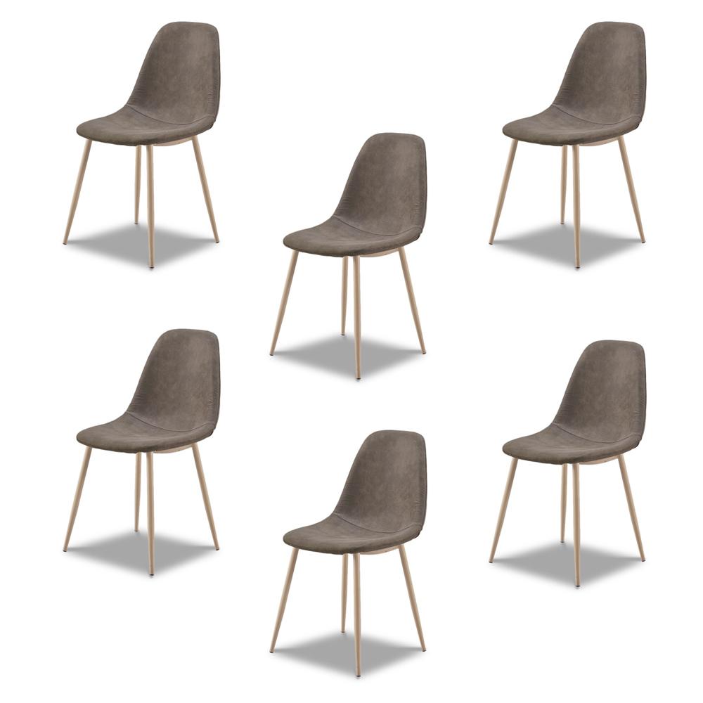 Купить Комплект из шести стульев Camel Cowboy коричневого цвета, inmyroom, Россия
