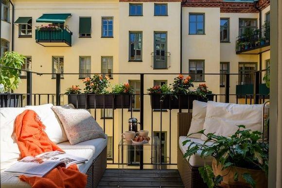 Фотография: Терраса в стиле Эко, Скандинавский, Декор интерьера, Квартира – фото на INMYROOM