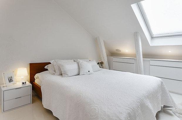 Фотография: Спальня в стиле Скандинавский, Квартира, Мебель и свет, Дома и квартиры – фото на InMyRoom.ru
