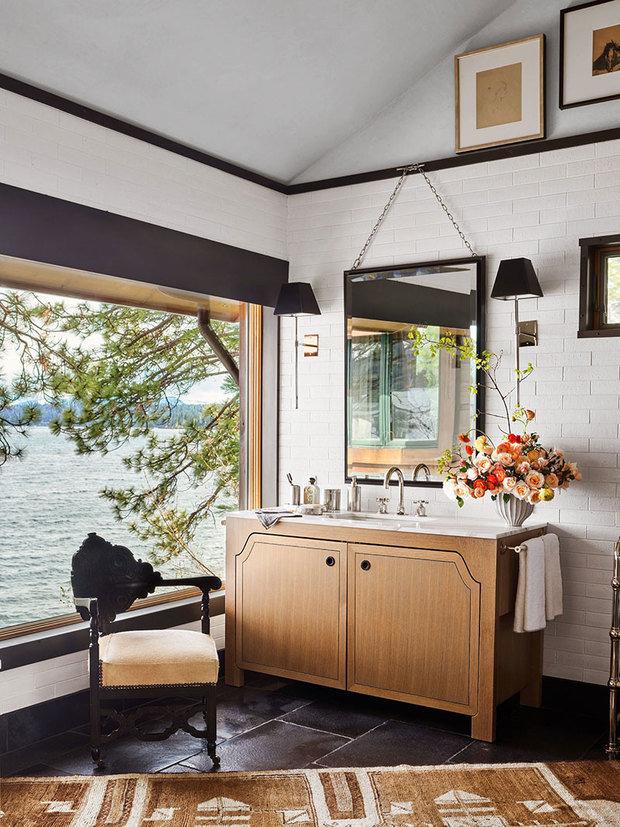 Фотография: Ванная в стиле Восточный, Декор интерьера, Дом, Белый, Бежевый, Серый, 4 и больше – фото на INMYROOM
