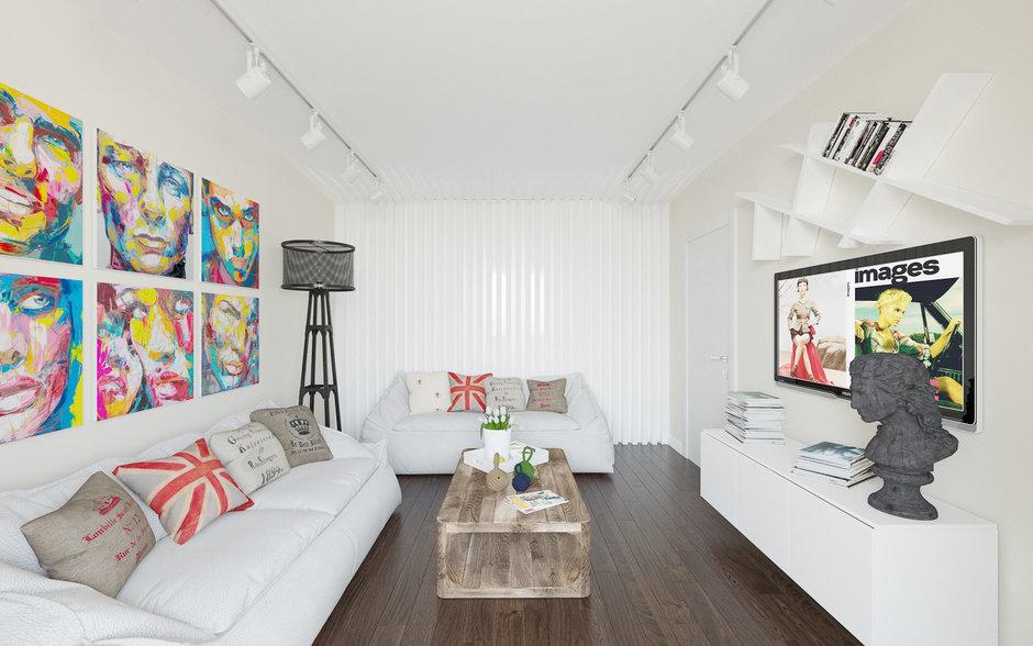 Фотография: Гостиная в стиле Эклектика, Квартира, Дома и квартиры, IKEA, Проект недели – фото на InMyRoom.ru