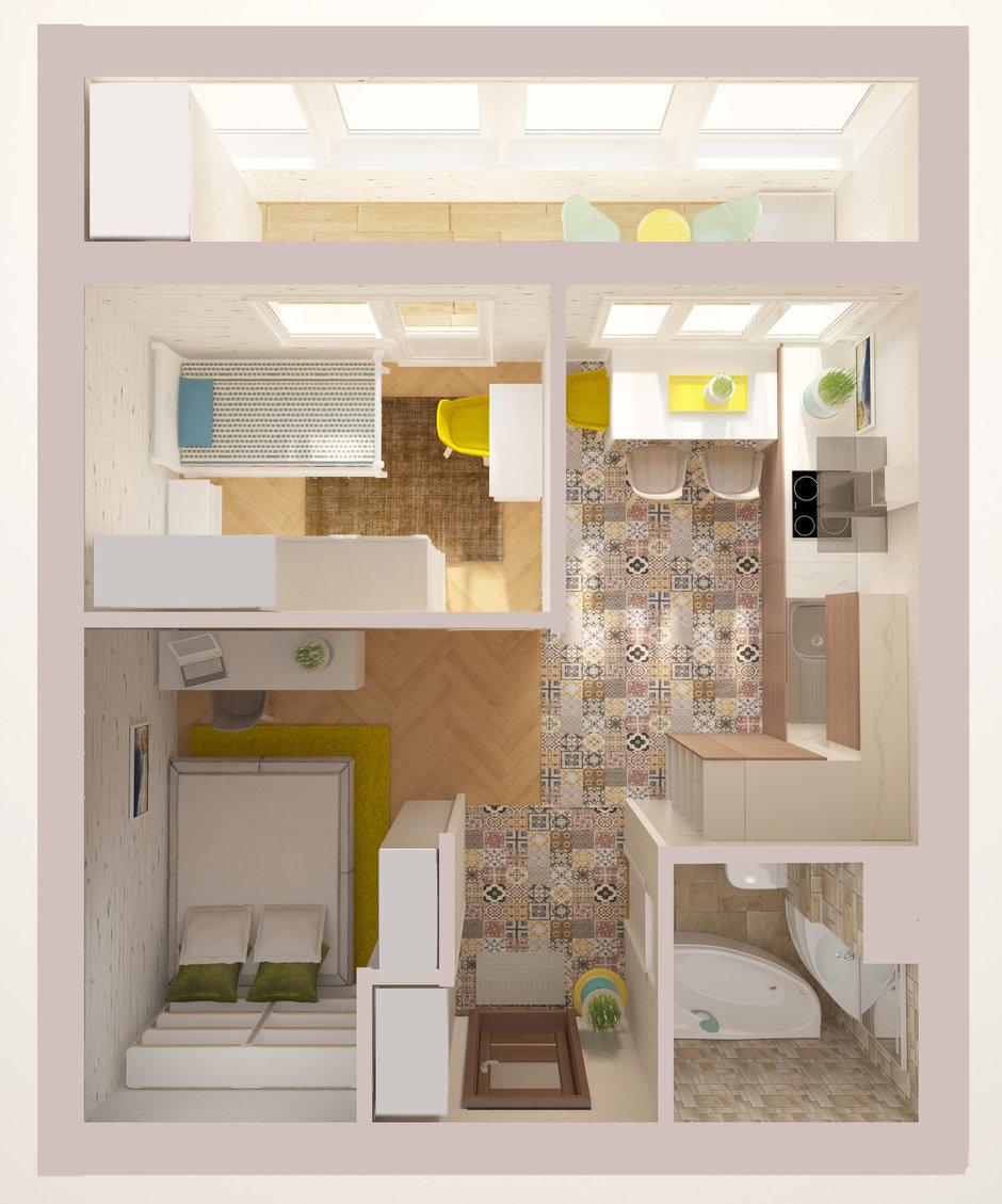 Фотография: Прочее в стиле , Квартира, Планировки, Дома и квартиры, Переделка, Блочный дом, 1 комната, до 40 метров, II-18 – фото на InMyRoom.ru