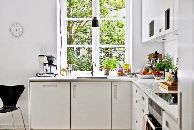 Фотография: Кухня и столовая в стиле Скандинавский, Интерьер комнат, kuhnya-8-kv-metrov – фото на InMyRoom.ru