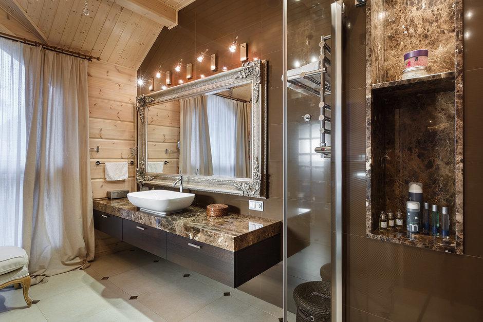 Фотография: Ванная в стиле , Классический, Дом, Дома и квартиры, Проект недели, Дача – фото на InMyRoom.ru