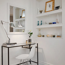 Фотография: Офис в стиле Лофт, Скандинавский, Малогабаритная квартира, Квартира, Швеция, Цвет в интерьере, Дома и квартиры, Белый, Стена – фото на InMyRoom.ru