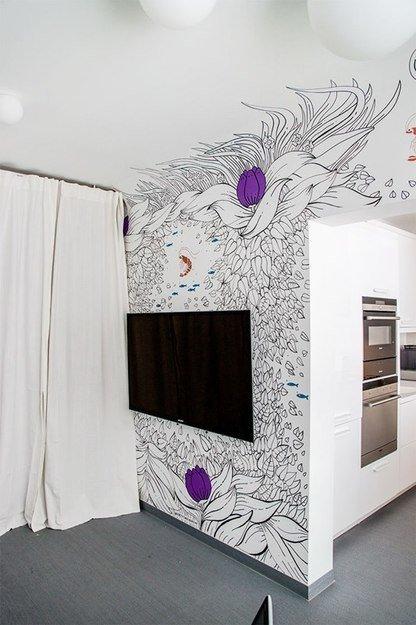 Фотография: Спальня в стиле Современный, Кухня и столовая, Интерьер комнат, Elle Decoration – фото на InMyRoom.ru