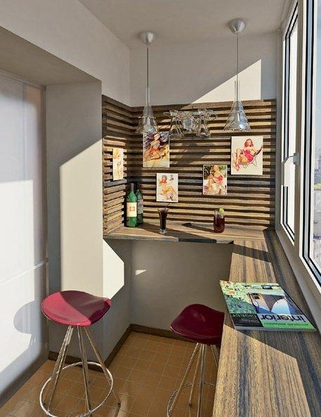 Фотография: Балкон, Терраса в стиле Современный, Интерьер комнат, Барная стойка – фото на InMyRoom.ru