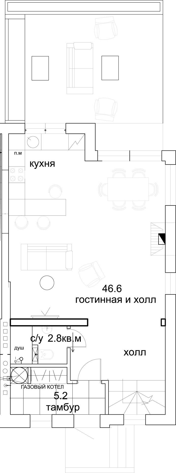 Фотография:  в стиле , Квартира, Проект недели, Подмосковье, Более 90 метров, Buro 19.23, Коттеджный поселок «Опушкино» – фото на InMyRoom.ru