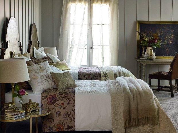 Фотография: Спальня в стиле Прованс и Кантри, Декор интерьера, Квартира, Дом, Декор дома, Текстиль, Zara Home – фото на InMyRoom.ru