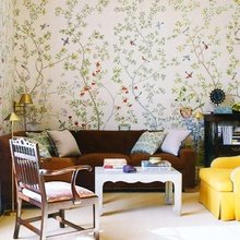 Фотография: Гостиная в стиле Кантри, Декор интерьера, DIY, Дом, Декор дома, Цвет в интерьере, Обои – фото на InMyRoom.ru