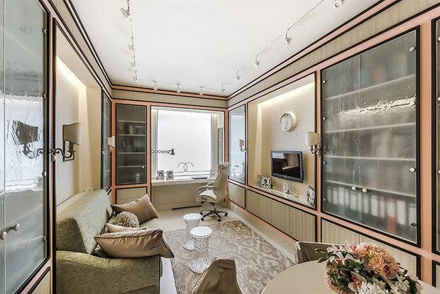 Фотография: Гостиная в стиле Классический, Современный, Кабинет, Интерьер комнат – фото на InMyRoom.ru