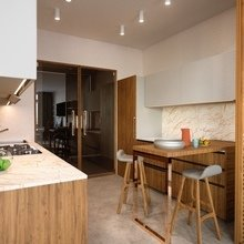 Фото из портфолио Квартира с панорамным видом – фотографии дизайна интерьеров на INMYROOM