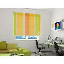Рулонные шторы в офис: Цитрусовые полосы