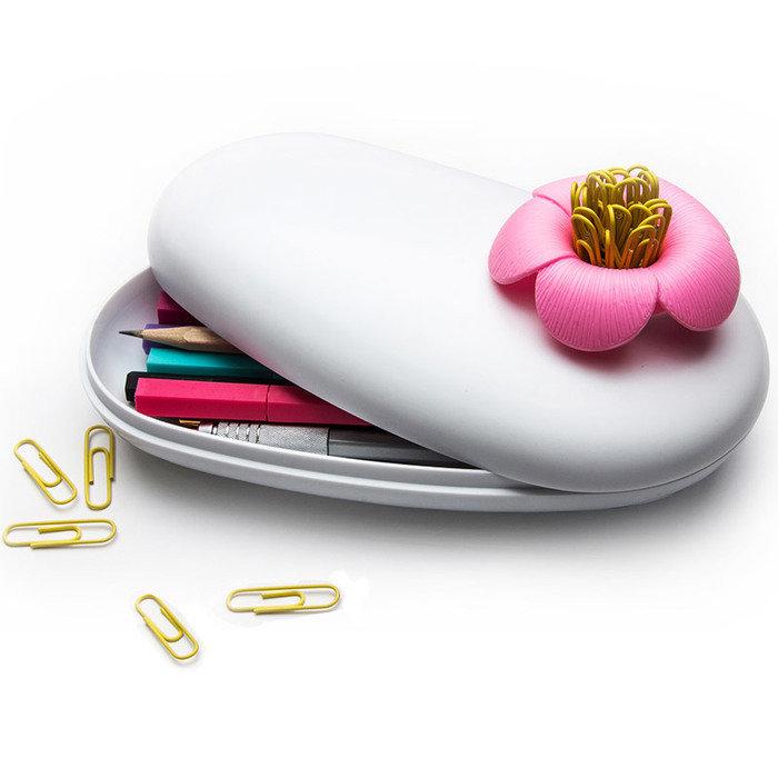Пенал-шкатулка blossom белый/розовый
