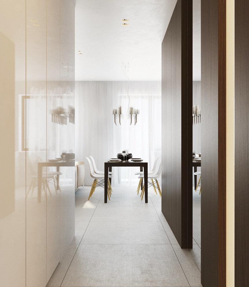 Фотография: Кухня и столовая в стиле Современный, Малогабаритная квартира, Квартира, Дома и квартиры, Минимализм, Переделка – фото на InMyRoom.ru