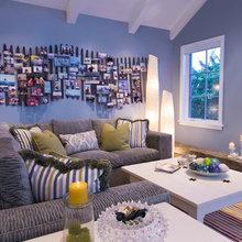 Фотография: Гостиная в стиле Современный, Декор интерьера, Декор дома, Цвет в интерьере, Обои – фото на InMyRoom.ru