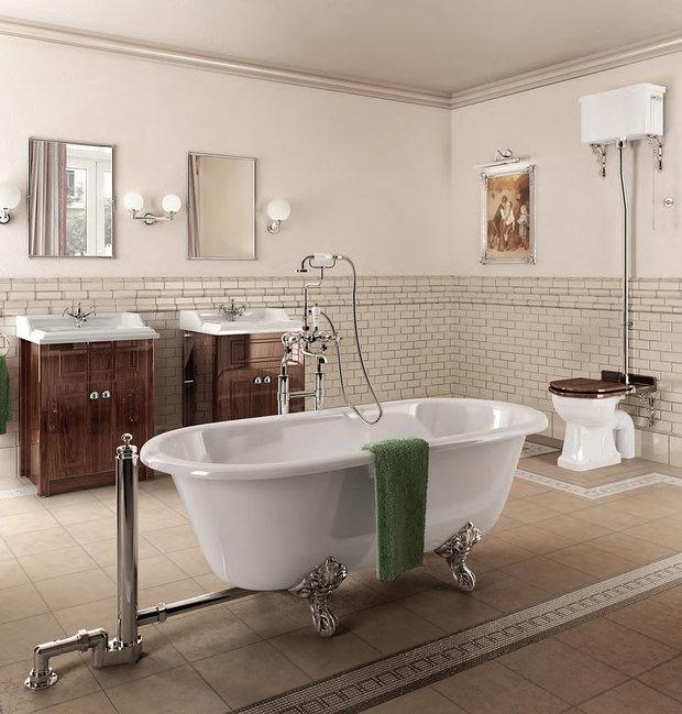 Фотография: Ванная в стиле Прованс и Кантри, Декор интерьера, Интерьер комнат, Викторианский – фото на InMyRoom.ru