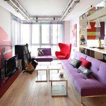 Фотография: Гостиная в стиле Лофт, Современный, Эклектика, Квартира, Проект недели – фото на InMyRoom.ru