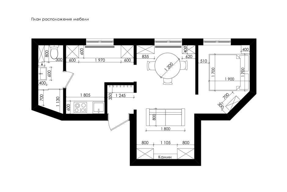 Фотография: Планировки в стиле , Малогабаритная квартира, Квартира, Проект недели, Марина Саркисян, Хельсинки, 2 комнаты, до 40 метров – фото на InMyRoom.ru
