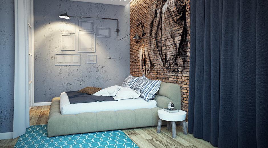 Фотография: Спальня в стиле Лофт, Квартира, Дома и квартиры, Проект недели – фото на InMyRoom.ru