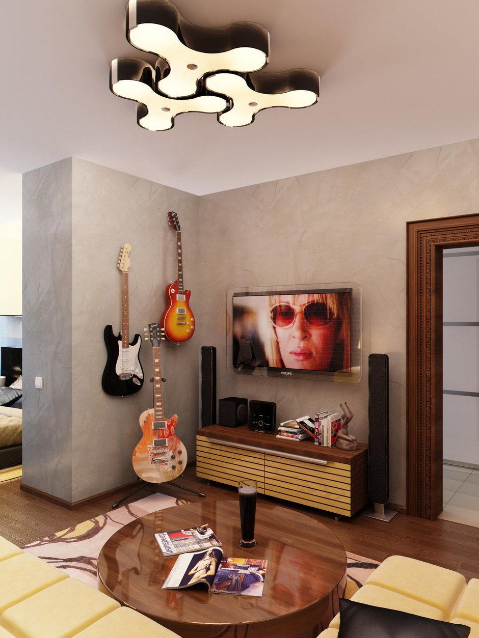 Фотография: Гостиная в стиле Современный, Лофт, Квартира, Проект недели – фото на InMyRoom.ru