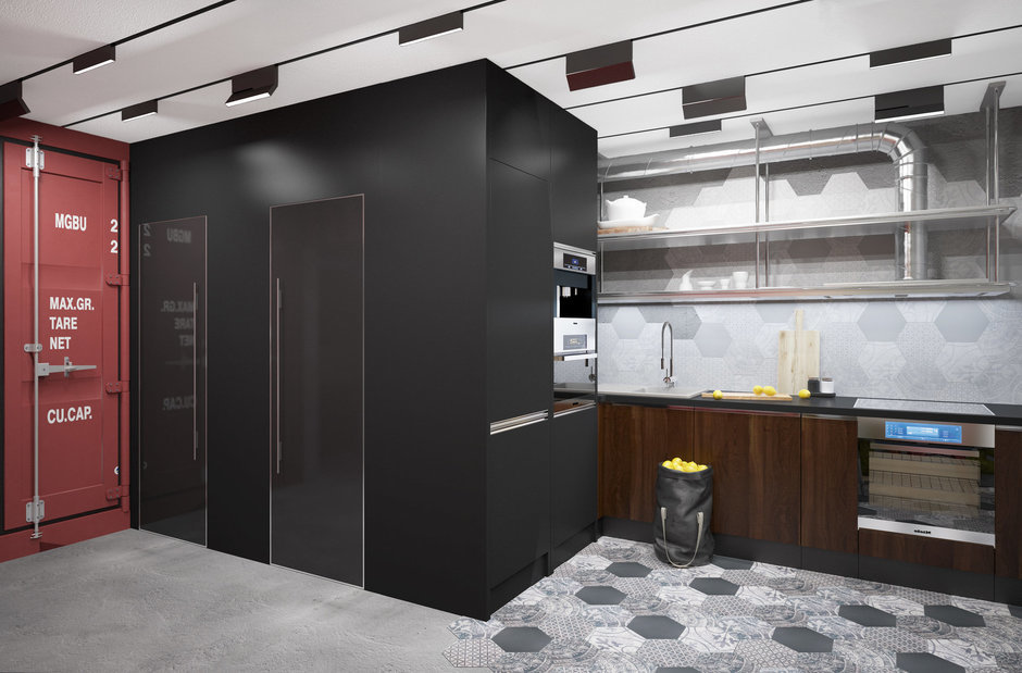 Фотография: Кухня и столовая в стиле Лофт, Проект недели, П-3М, GM-Interior – фото на InMyRoom.ru
