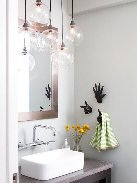 Фотография: Ванная в стиле Скандинавский, Декор интерьера, Дом, Декор дома, Цвет в интерьере – фото на InMyRoom.ru