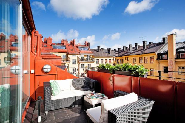 Фотография: Балкон, Терраса в стиле , Лофт, Скандинавский, Малогабаритная квартира, Квартира, Дома и квартиры – фото на InMyRoom.ru