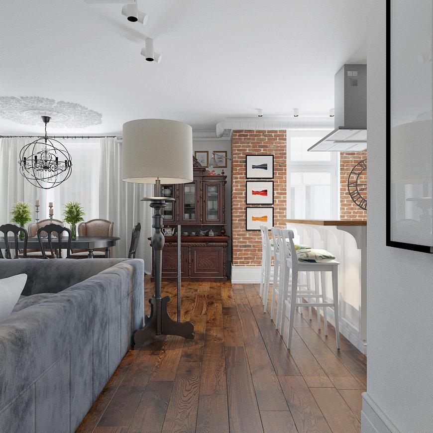 Фотография: Кухня и столовая в стиле Эклектика, Лофт, Квартира, Дома и квартиры – фото на InMyRoom.ru